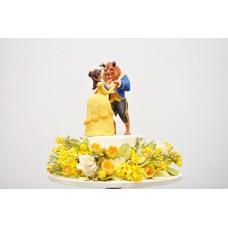 "Торт на 14 февраля ""Красавица и Чудовище"""