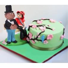 """Торт на 14 февраля """"Необычное свидание"""""""