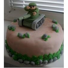 "Торт ""Танкист в бою"""