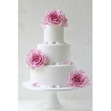 """Свадебный торт """"Розы на снегу"""""""