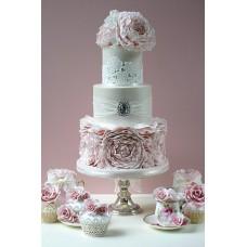 """Свадебный торт """"Кружево и рюши"""""""