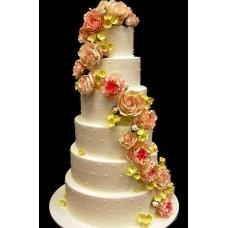 """Свадебный торт """"Венок невесты"""""""