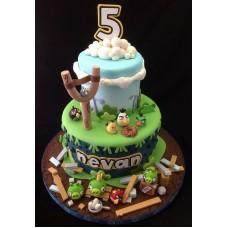 "Детский торт ""Angry Birds"" №8"