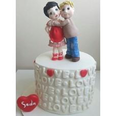 """Торт на день влюбленных """"Любящие сердца"""""""