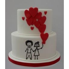 """Торт на день влюбленных """"Счастливы вместе"""""""