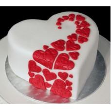 """Торт на день влюбленных """"Танец сердец"""""""