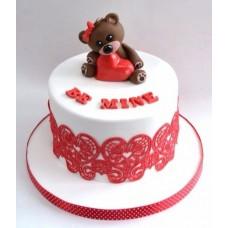 """Торт на день влюбленных """"Мишка с сердечком"""""""