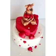 """Торт на день влюбленных """"Я сохраню нашу любовь"""""""