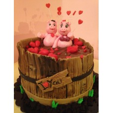 "Торт на 14 февраля ""Любовный омут"""