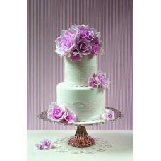 """Свадебный торт """"Лиловые розы"""""""