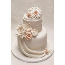 """Свадебный торт """"Кремовые розы"""""""