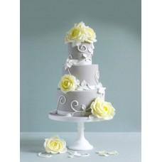 """Свадебный торт """"Желтые розы"""""""