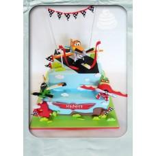 """Детский торт """"Аэродром"""""""