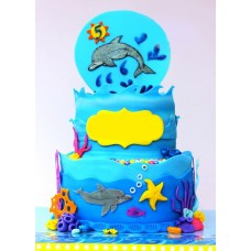 """Детский торт """"Дельфинчик"""""""