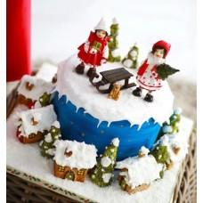 """Торт """"Зимние развлечения"""""""
