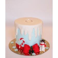 """Торт """"Новогодняя свеча"""""""