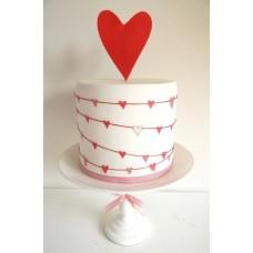 """Торт на день влюбленных """"Сердце под охраной"""""""