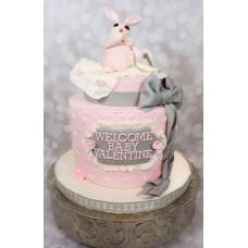 """Торт на день влюбленных """"Розовый зайчик"""""""
