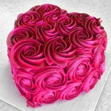 """Торт на день влюбленных """"Малиновое сердце"""""""
