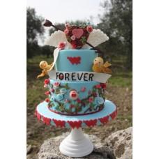 """Торт на день влюбленных """"Покоренное сердце"""""""