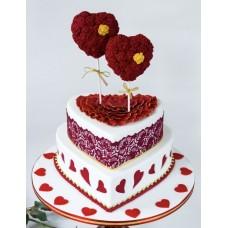 """Торт на 14 февраля """"Два воздушных сердца"""""""