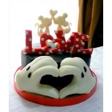 """Торт на день влюбленных """"Нереальная любовь"""""""