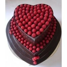 """Торт на 8 марта """"Малиновое сердце"""""""