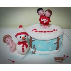 "Торт на свадьбу ""Одно целое"""
