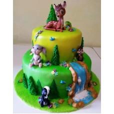 """Детский торт """"Бэмби и друзья"""""""