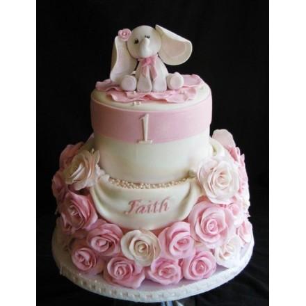 """Десткий торт """"Розовый слоненок"""""""