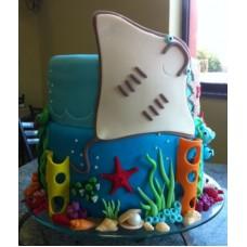 """Детский торт """"Подводный мир"""""""
