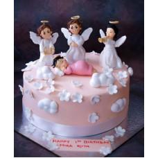 """Детский торт """"Ангелы не спят"""""""