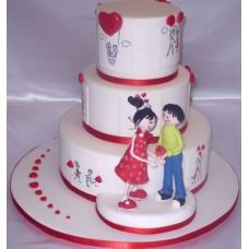 """Торт на 14 февраля """"Дорогой подарок"""""""