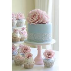 """Свадебный торт """"Кружево и розы"""""""