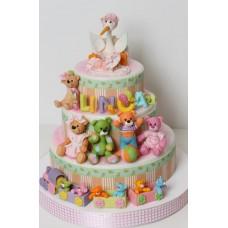 "Детский торт ""Аист и малыш"""