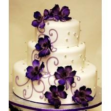 """Свадебный торт """"Фиолетовые цветы"""""""