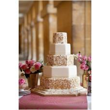 """Свадебный торт """"Золотые узоры"""""""