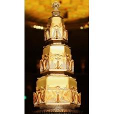 """Свадебный торт """"Золотая мантия"""""""""""
