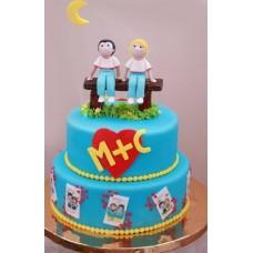 """Свадебный торт """"Любовь это... Быть рядом"""""""