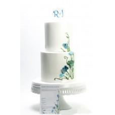 """Свадебный торт """"Тонкие цветки"""""""