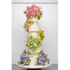 """Свадебный торт """"Сочные цветы"""""""