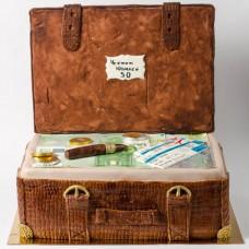 """Торт """"Юбилейный чемодан"""""""