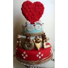 """Торт на День Святого Валентина """"Большая любовь"""""""