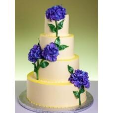 """Свадебный торт """"Фиолетовая гортензия"""""""