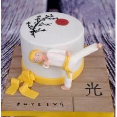 """Детский торт """"Мисс каратэ"""""""