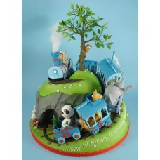 """Детский торт """"Приключение на поезде"""""""