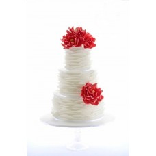 """Свадебный торт """"Красные цветы"""""""