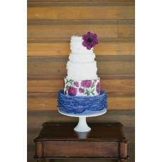 """Свадебный торт """"Роспись цветов"""""""