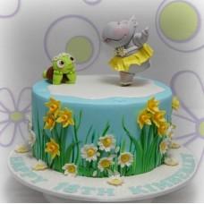 """Детский торт """"Бегемотик и черепашка"""""""
