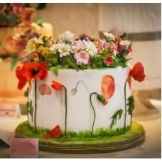 """Торт """"Разновидные цветы"""""""